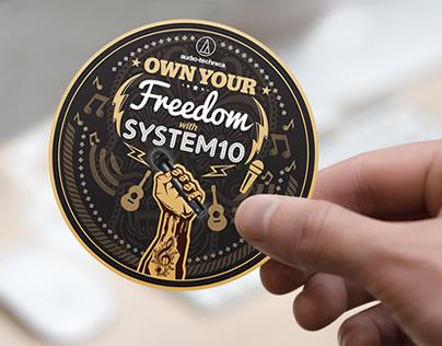 Audio-Technica's System 10 sticker design