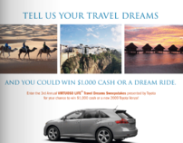 Virtuoso Life Travel Dreams Sweepstakes Promo - 2009