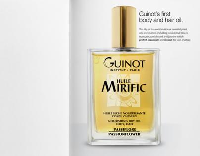 Guinot Huile Mirific advertising