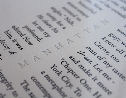 """Manhattan"" Letterpress Print"