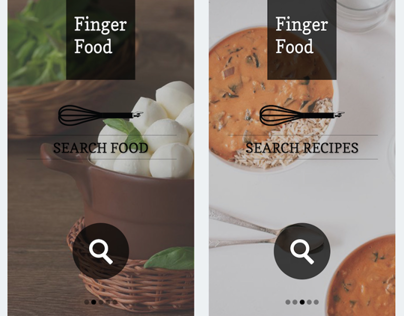 FINGER FOOD – Food always at hand – app concept