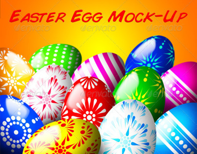 Easter Egg Mock-Up PSD
