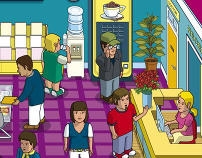 Heathcare Game App Illustration
