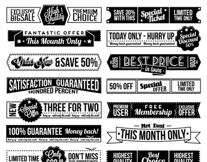 Typographic Banner Set