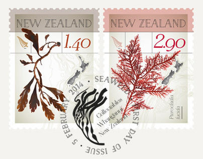 New Zealand Native Seaweed – Stamp Issue