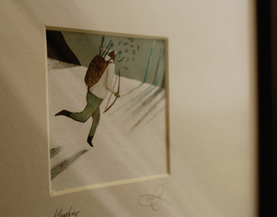 Hunter - Signed & Framed Original Illustration for Sale