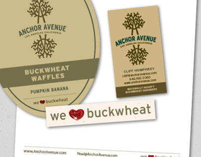 Anchor Avenue Buckwheat Pancakes Print Design