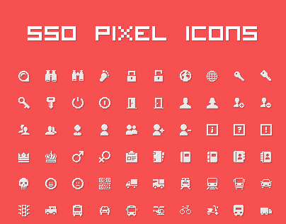550 perfect pixel vector icons