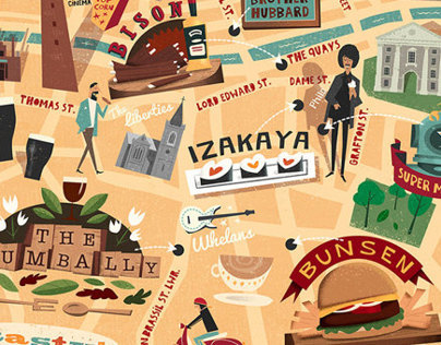 Edible Map of Dublin