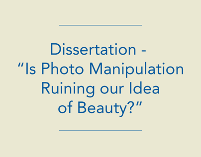 """Is Photo Manipulation Ruining our Idea of Beauty?"""
