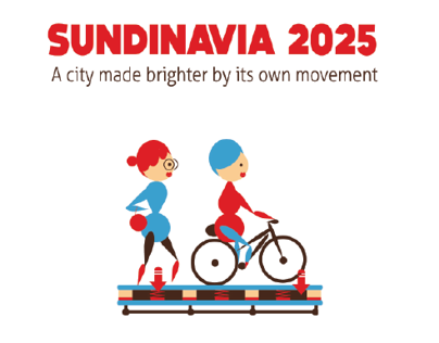 SUNDINAVIA 2025. A brighter city by its own movement.