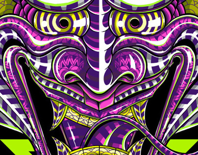Psychedelic Hannya: Illustration