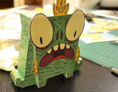 Swamp Monster Fold Up Paper Doll