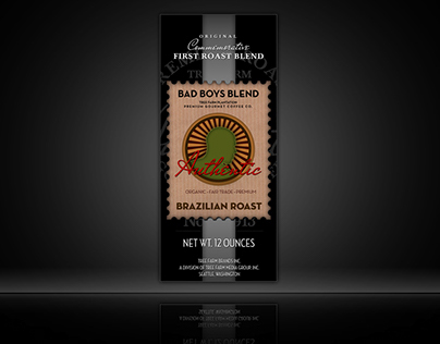 Bad Boys Blend Coffee Logo and Label