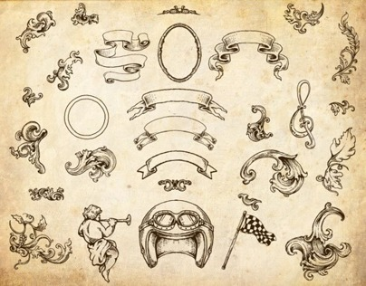 49 Handrawn Baroque Style in Vector format file