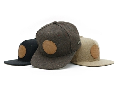 Filter017 LOGO BLENDED LEATHER LABEL SNAPBACK CAP