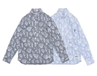 Filter017 Outdoor Graphics Pattern Oxford Shirt