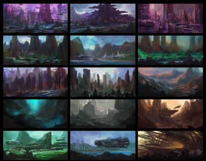 Environment Sketches v1