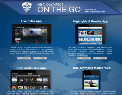 NBC Winter Olympics 2014 Ads & Banners