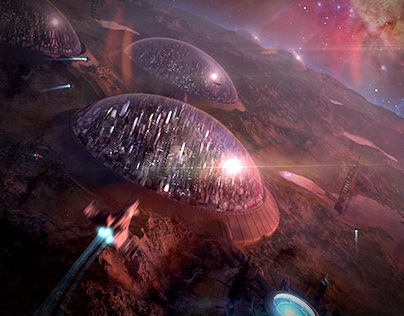 Magnetar scifi illustration/matte paintings