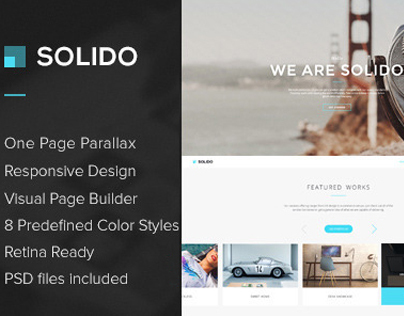 WP - Solido Responsive One Page Multi-Purpose Theme