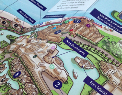 Concierge Map for Dubai's Madinat Jumeirah