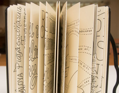 Lettering Moleskines Japanese Album Project