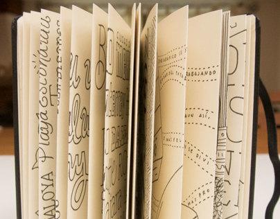 Lettering Moleskines Japanese Album Project