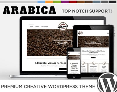 WP - Arabica Responsive Creative WordPress Theme