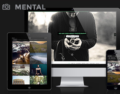PSD Template - Mental Responsive Photography Portfolio