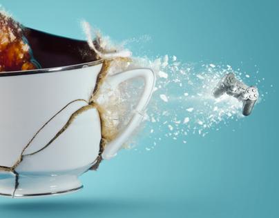 Batelco Fiber Optics - Coffee Cup