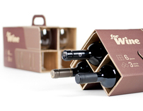 forWine - Packaging concept for wine glasses
