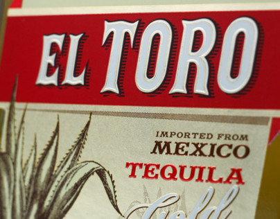 "Tequila Label Design - ""El Toro"""