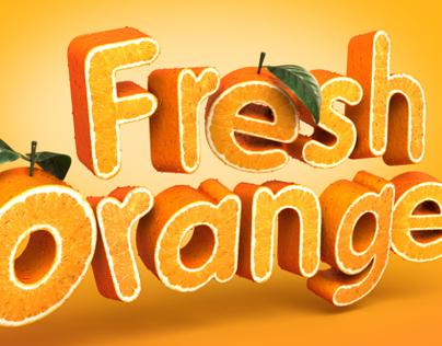 Fresh Orange - 3d typography