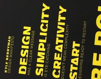 Design Manifesto Poster