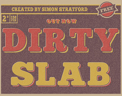 Dirty Slab free typeface