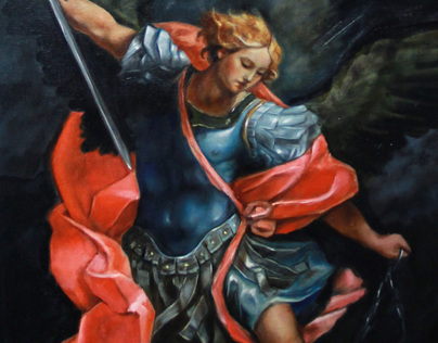Archangel Michael after Guido Reni