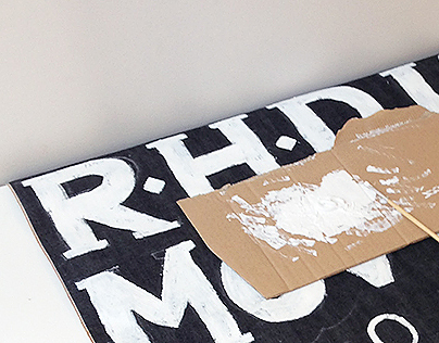 RHD denim signage