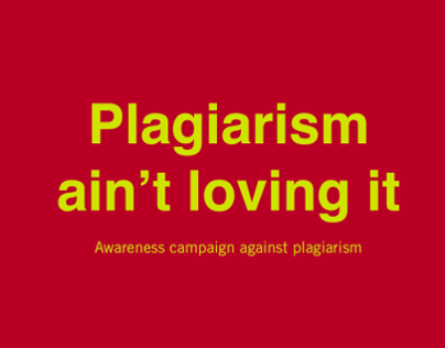 Awareness Campaign Against Plagiarism