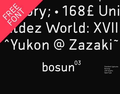bosun – FREE FONT