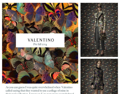 Storm of Butteflies // Artwork for Valentino Fall 2014