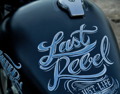 Sign Painting  - Custom - Yamaha Bobber 250