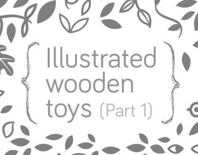 Illustrated wooden Toys 1