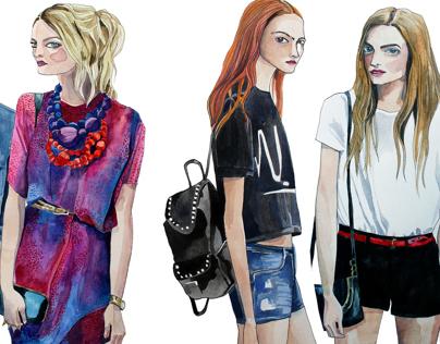 Street Style - Fashion Illustration
