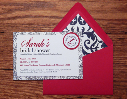 Sarah Lutz's Bridal Shower Invitations