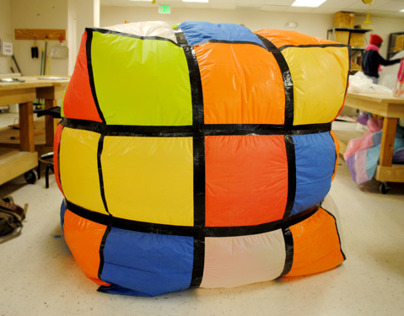 Inflatable Project: Huge Rubiks Cube