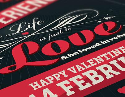 Valentine day poster card design