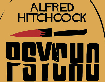 Alfred Hitchcock Alternative Movie Poster