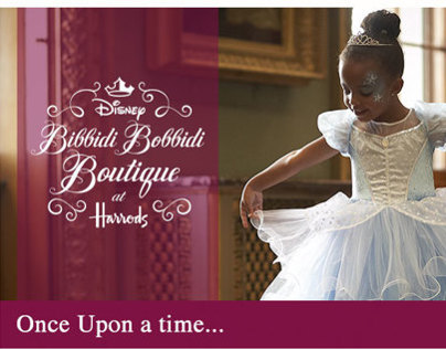 Disney Harrods Webpage Design