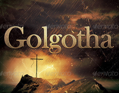Golgotha Church Flyer Template